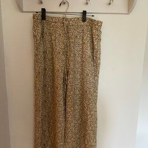 Uniqlo | Wide Leg Floral Print Pants (XL)